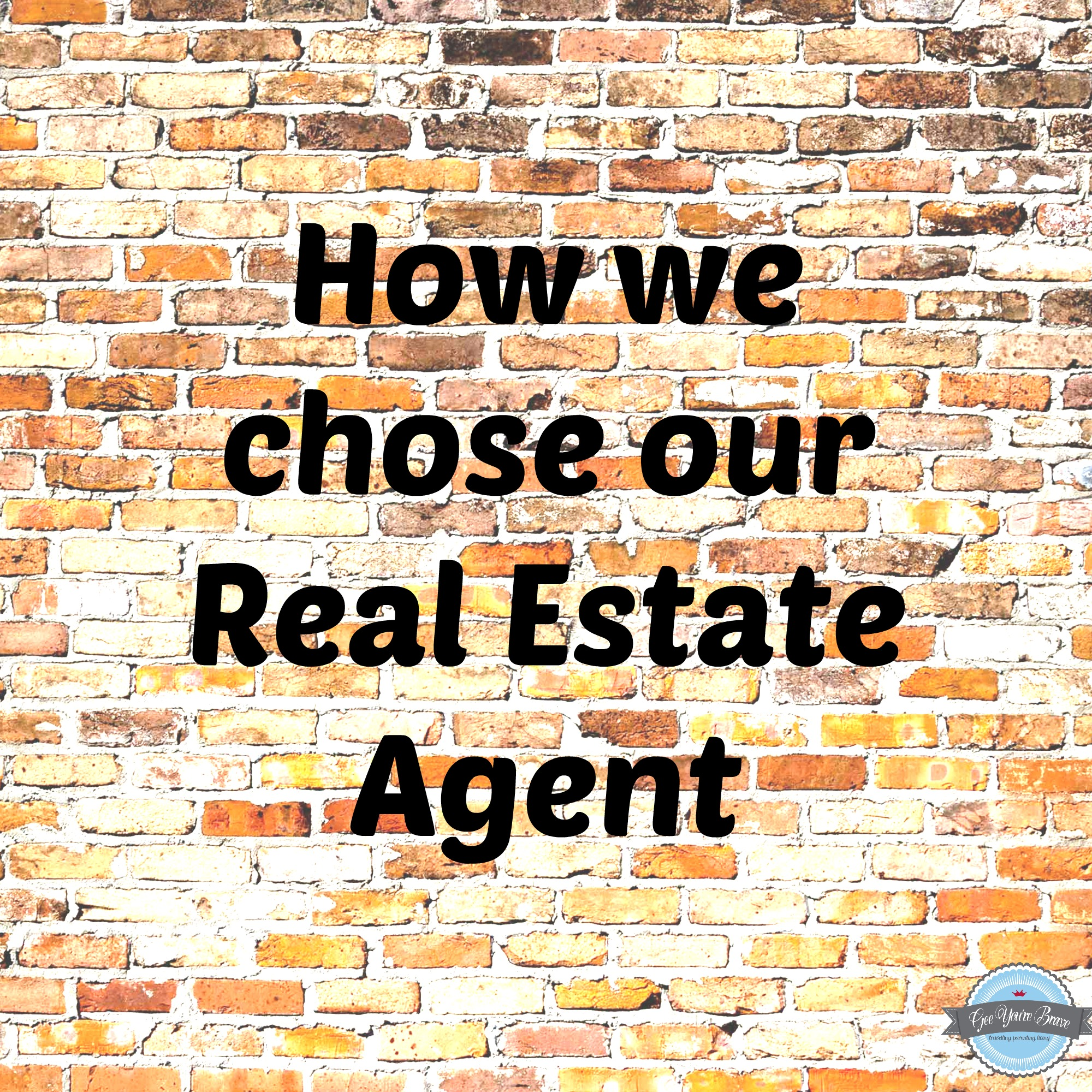 how we chose our RE agent